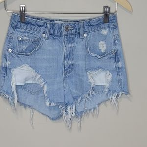 Garage Distressed Denim Shorts Size 1
